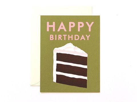 Piece of Cake Happy Birthday Card  | at Amelia ameliapresents.com