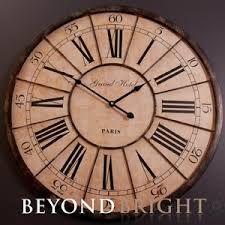 Bilderesultat For Antique De Paris Wall Clock 100cm Clock Wood Wall Clock Wall Clock