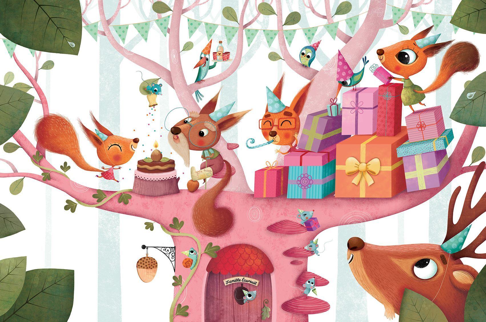 открытки с днем рождения с белками как это