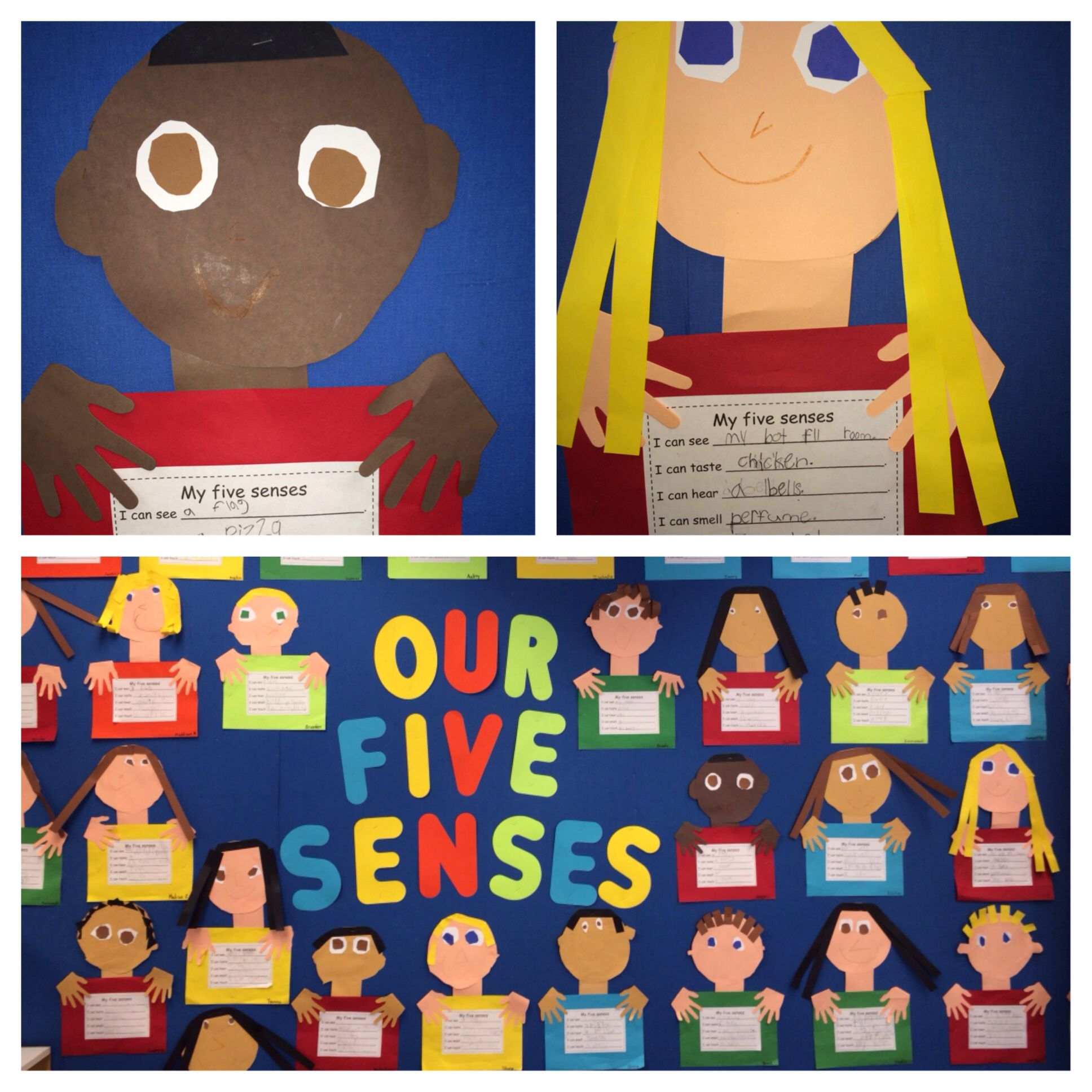 Five Senses Project The Students Made A Self Portrait And