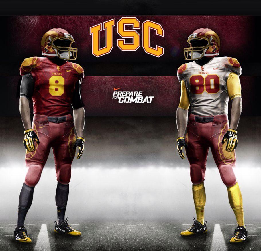 Usc Concept Uniform College Football Teams College Football Uniforms Football