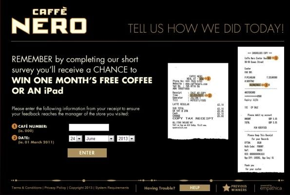 My Nero Visit Customer Satisfaction Survey WwwMynerovisitCom