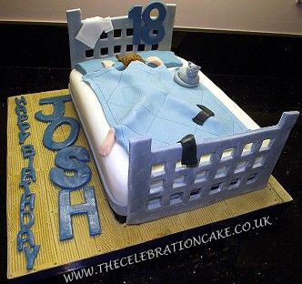 18th Birthday Bed Cake Cake Pinterest Bed cake Cake and
