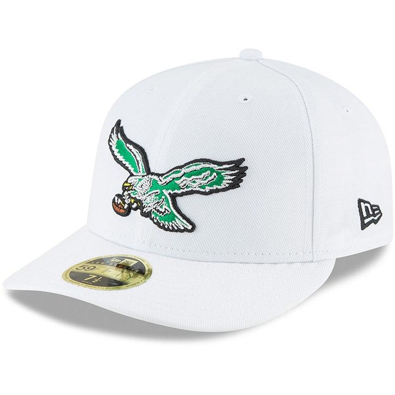 7ae0e06e7d0 Philadelphia Eagles New Era Throwback Logo Omaha Low Profile 59FIFTY Fitted  Hat - White