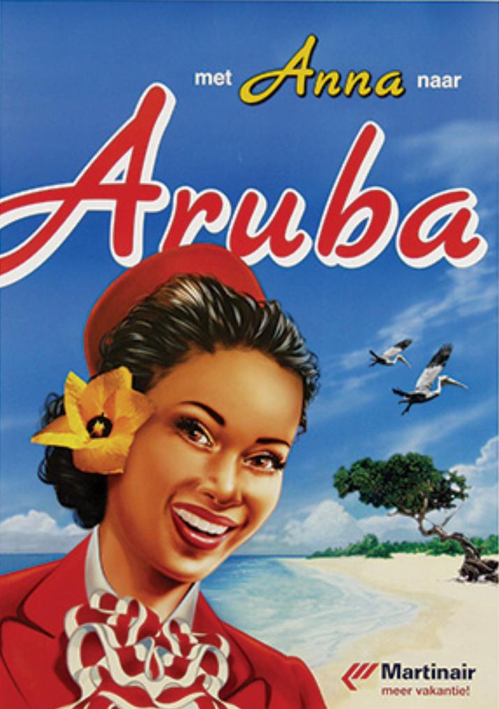 Aruba Martinair Vintage Travel Posters American Travel Posters Travel Posters
