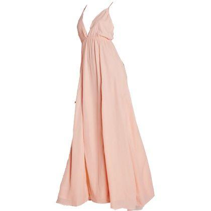 robe longue rose pale boheme robes de soir e l gantes 2019. Black Bedroom Furniture Sets. Home Design Ideas