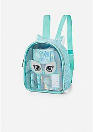 owl glitter cosmetic backpack  cute mini backpacks