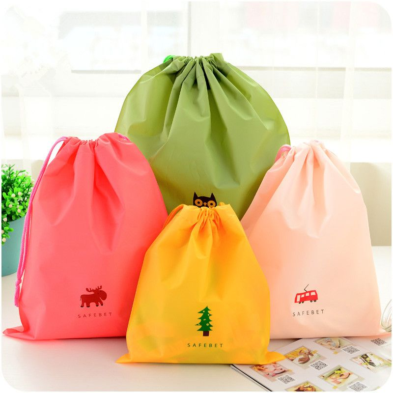 6f1827577a63b 1pc Cartoon Drawstring Pouch Travel Bags Clothes Storage Finishing ...