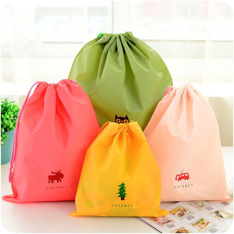 1 قطعة الكرتون الرباط الحقيبة أكياس الملابس أكياس تخزين التشطيب الأمتعة السفر للماء كيس الأ Travel Storage Bag Storage Bags For Clothes Travel Bag Organization