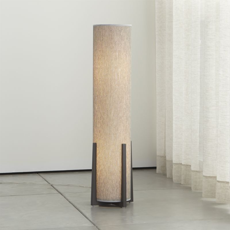 Weave Greige Floor Lamp. Crate And BarrelFloor ... - Weave Greige Floor Lamp Floor Lamp, Crates And Barrels