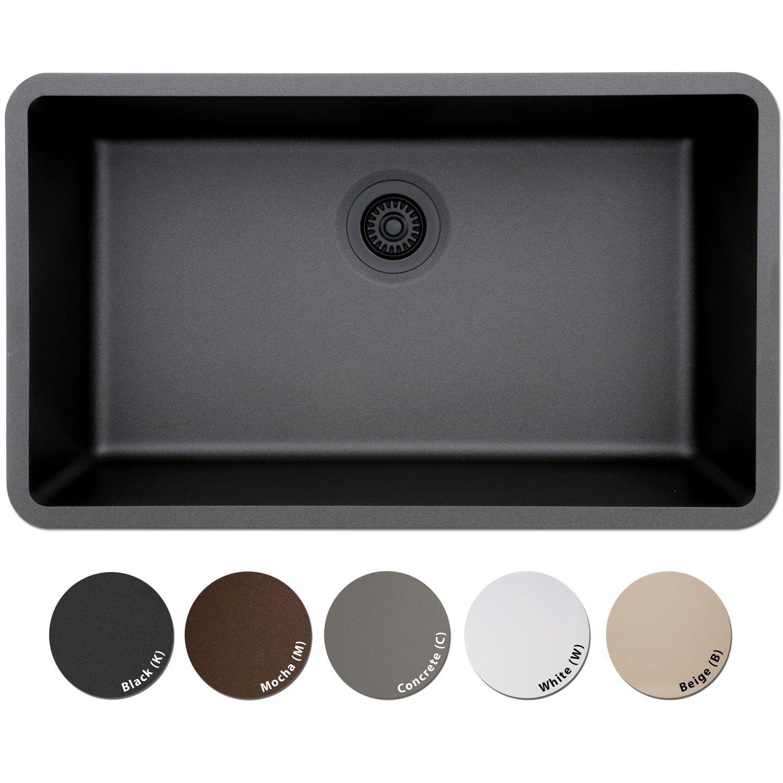 Lexicon Platinum Quartz posite 32x19 inch Kitchen Sink with