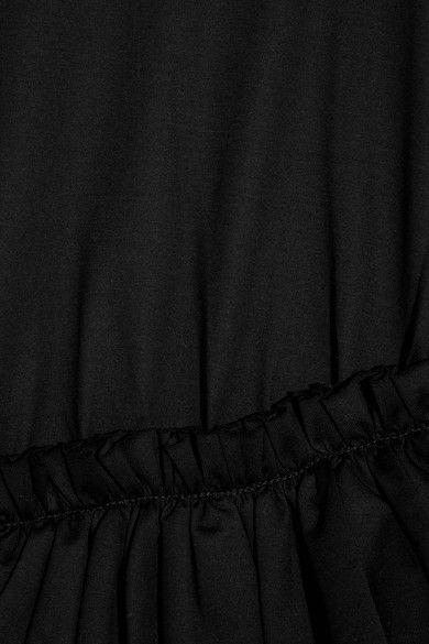 Marques' Almeida - Ruffled Stretch-jersey T-shirt - Black