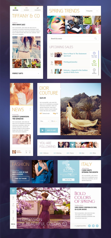 Ui Kit (Fashion) by Mike | Creative Mints | Web Design | Pinterest ...