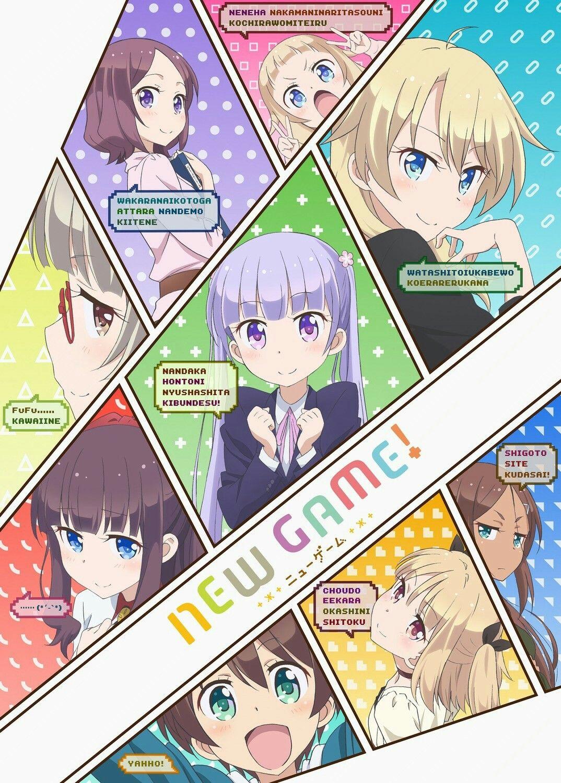 new game!, ahagon umiko, hazuki shizuku, iijima yun
