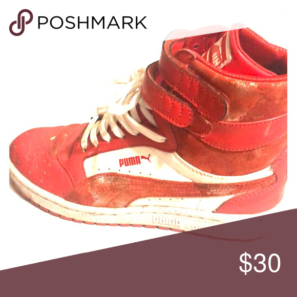 High top sneakers Red high top Puma