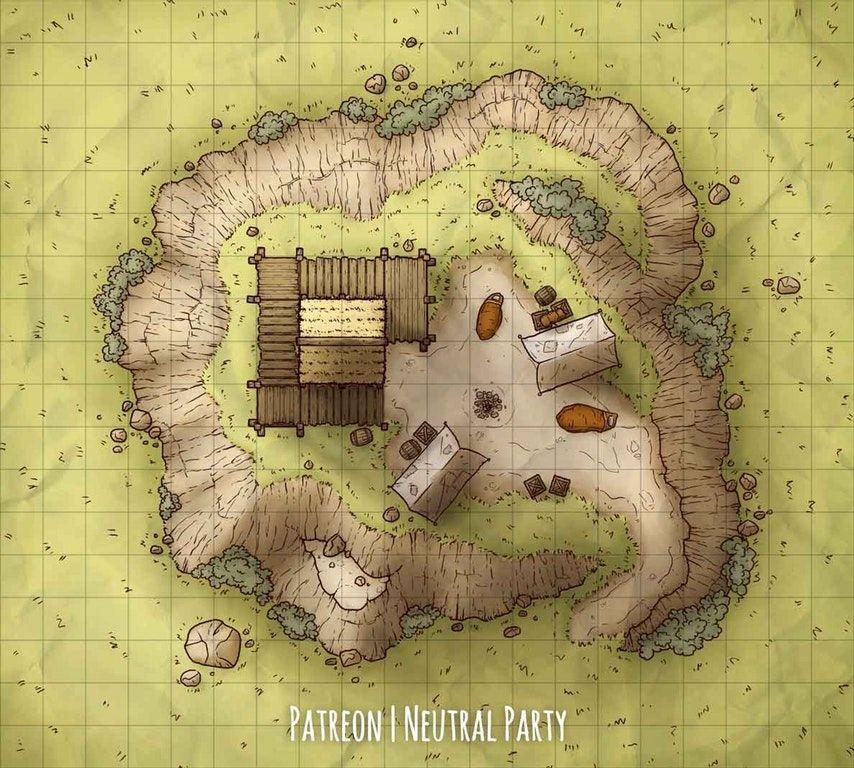 OC][Art] Hilltop Watchtower Battlemap : DnD | Dungeon maps ... on
