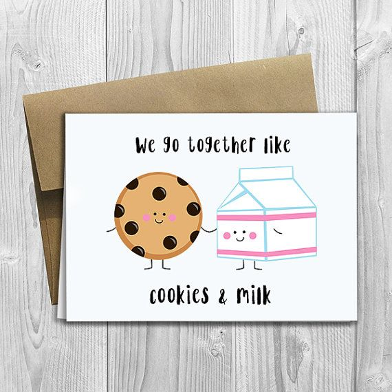 Image result for cute valentines day cards milk and cookies