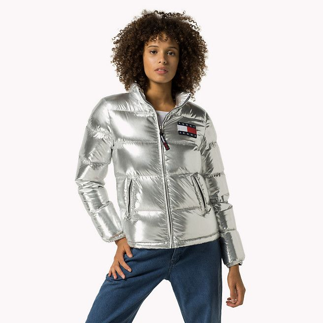 Tommy Hilfiger Silver Down Puffer Jacket - metallic silver (Grey) - Tommy Hilfiger Jackets - detail image 0