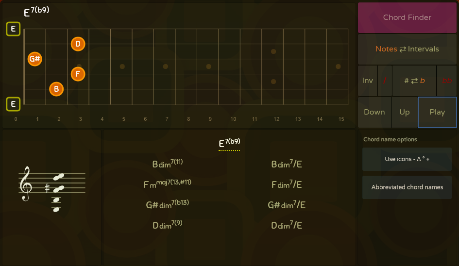 Oolimo Chord Analyzer Music And Lessons Pinterest Guitar