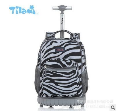 a999d6342c9a TILAMI Children Trolley School Bags kids Trolley Backpack 18 inch Travel Luggage  Backpack with Wheels Rolling Backpack For Girls