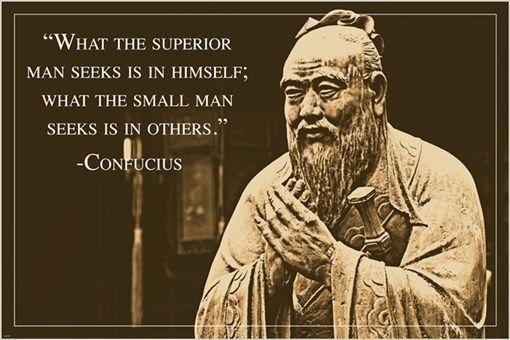 rare unique CONFUCIUS PHOTO QUOTE POSTER ancient chinese philosopher 24X36