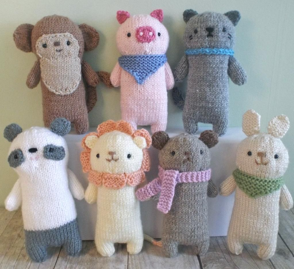 Knit Baby Animal Pattern Set | Animal patterns, Knitted baby and ...