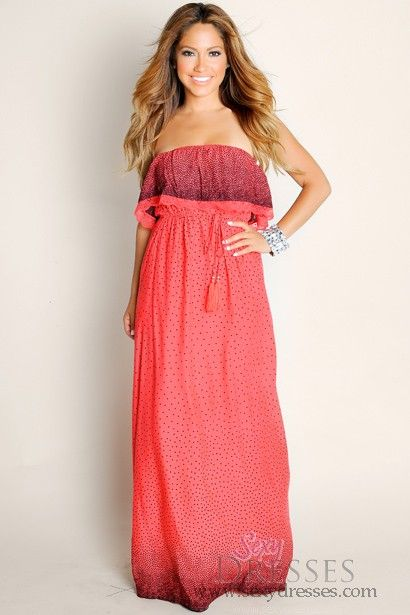 f8719c45075 Sexy Red Feel The Love Lacey Strapless Tube Top Maxi Dress Talles  S ...