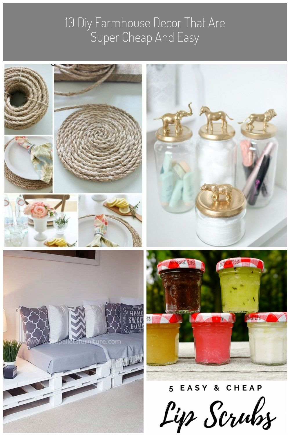 Super Easy And Cheap Diy Farmhouse Decor Ideas For Your Home Pottery Barn Inspired Round Jute Placemats And Others Diy Diy Home Decor Hom Farmhouse Decor Pottery Barn Inspired Diy