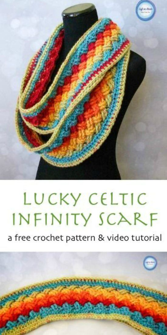 Lucky Celtic Infinity Scarf - Free Crochet Pattern and Video ...