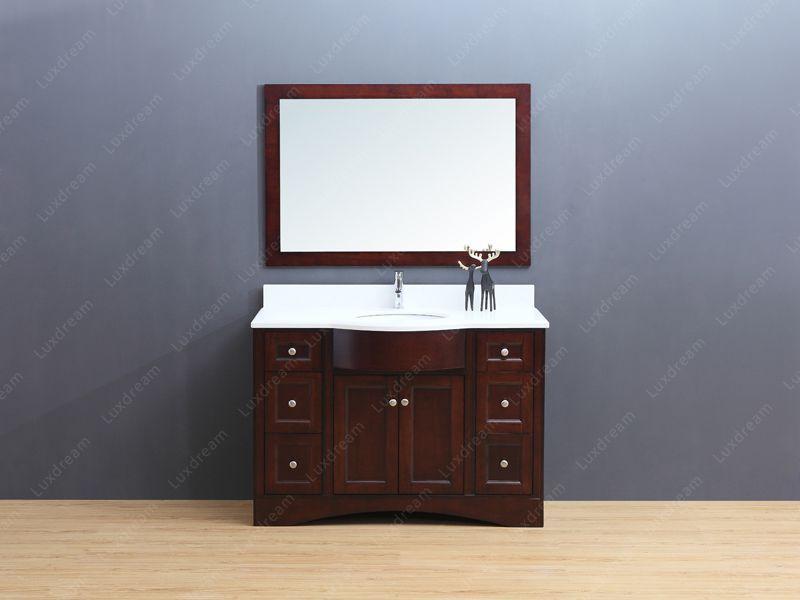 Luxdream 48 Inch Floor Standing Classical Bathroom Vanity With Quartz Countertop And Mirror Classical Bathroom Vanity Bathroom Vanity