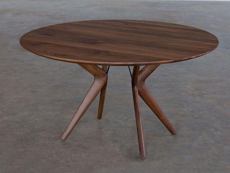 Round Wooden Table LAKRI By Artisan Design Rudjer Novak Mikulic, Marija  Ruzic