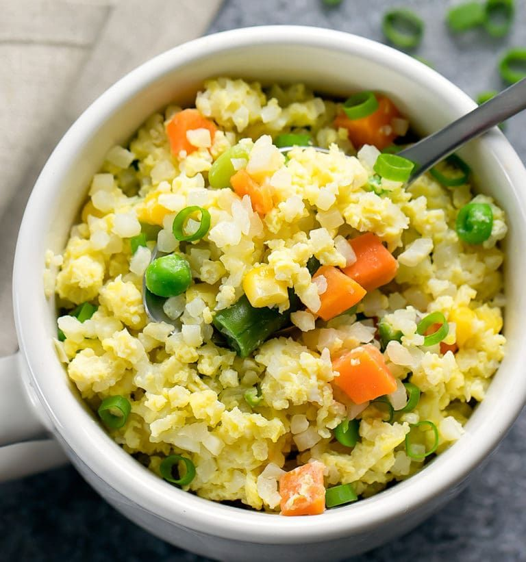 Microwave Cauliflower Fried Rice Recipe (With images