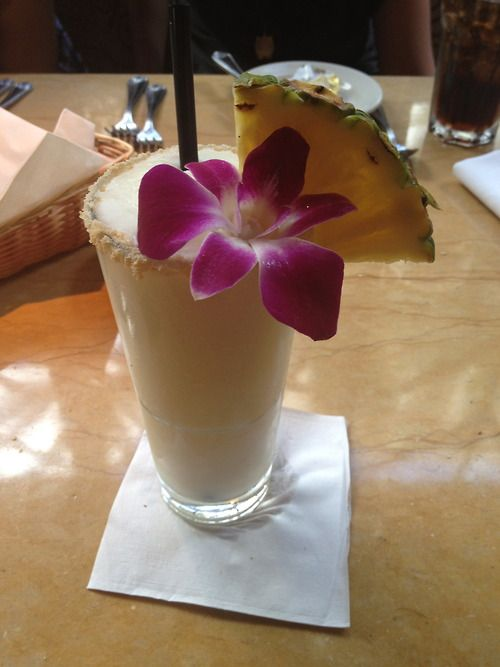bridal shower signature cocktail pina colada