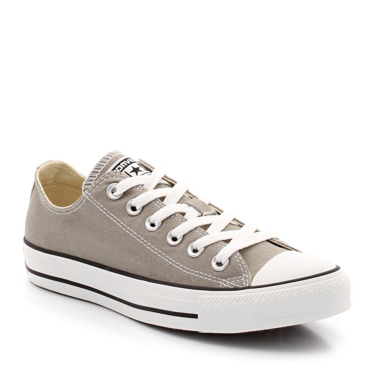 Zapatillas deportivas de caña baja de tela de color gris
