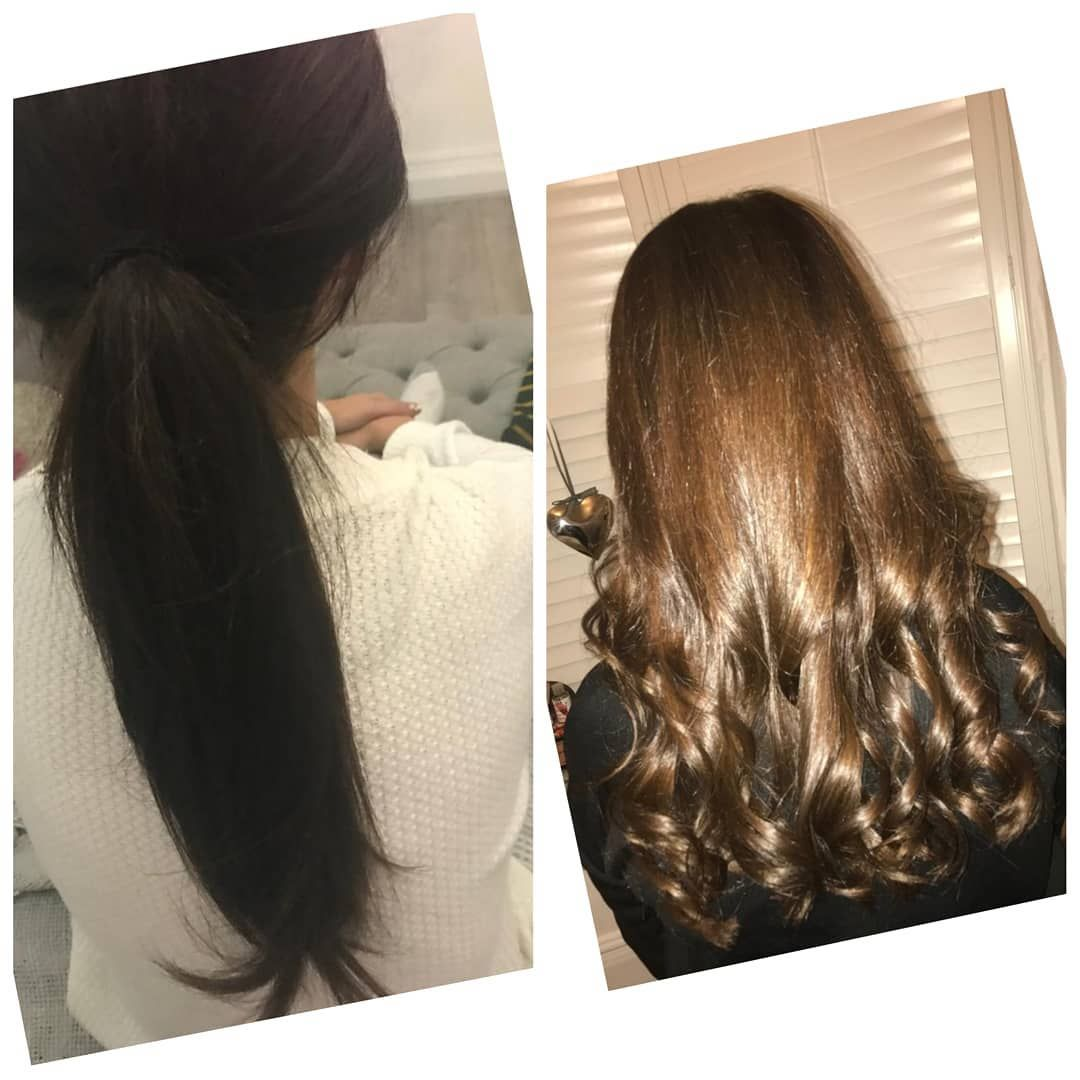 Before And After My Clients Hair Was Too Dark So We Stripped It