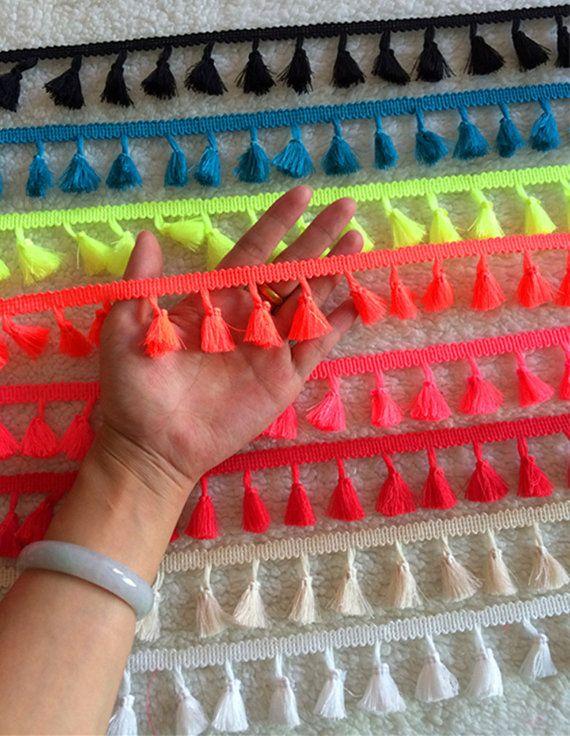Multi coloured tassel trims