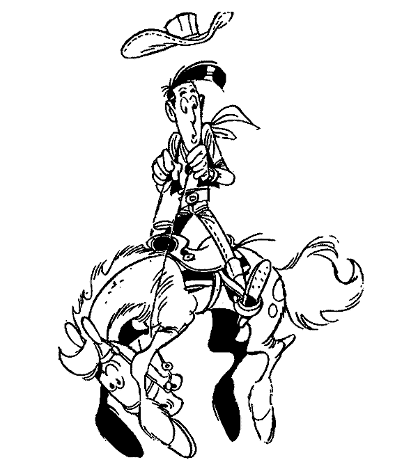 Lucky Luke Horse Jumping Lucky