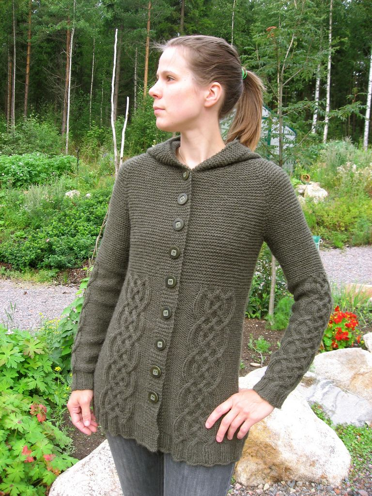 """Ravelry: 109-3 jacket in """"Alaska"""" with cables, raglan sleeves and ..."""