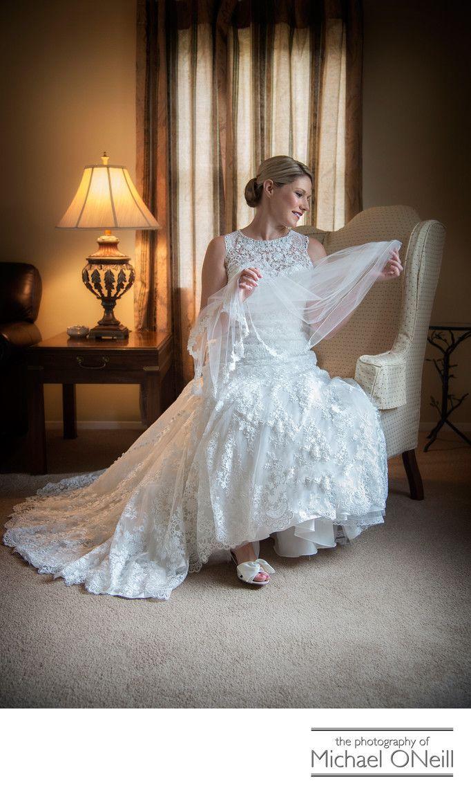 Michael Oneill Wedding Portrait Fine Art Photographer Long Island New York Great Gown And Bridal Veil Photographs