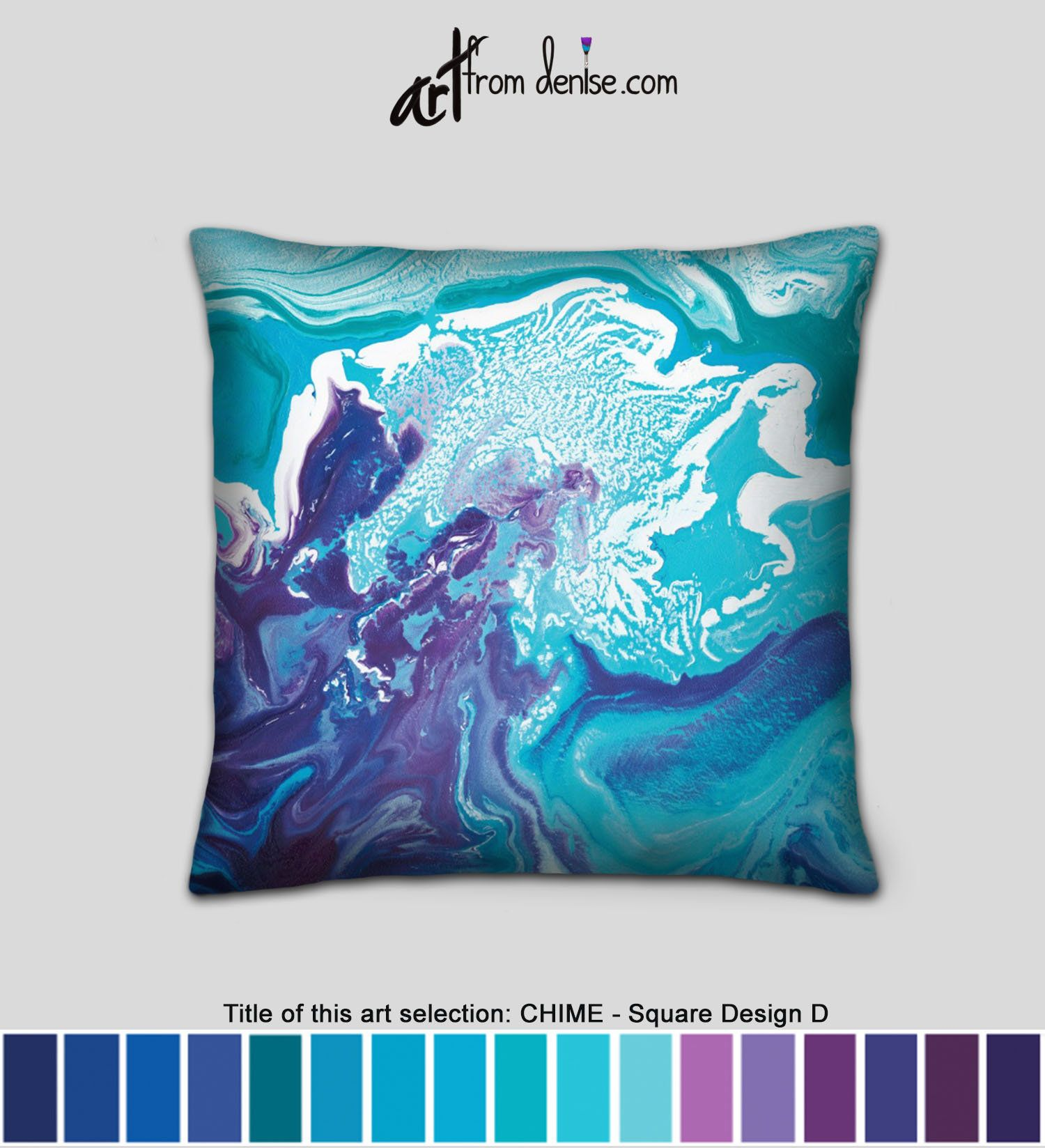 Turquoise Blue Purple Throw Pillows Small Decorative Pillow For Bed Decor Large Couch Pillows Set Covers Or Outdoor Sofa Cushions In 2020 Purple Throw Pillows Small Decorative Pillow Couch Pillow Sets