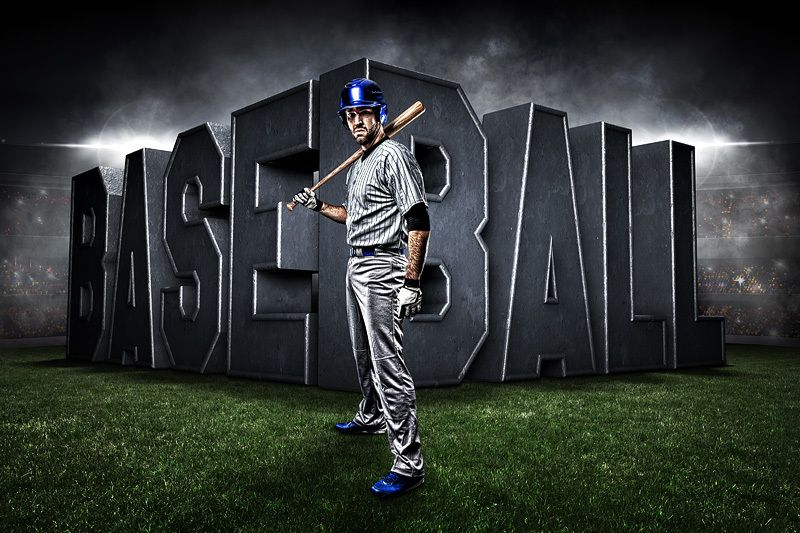 Player & team banner sports photo template baseball uprise.