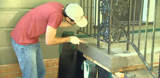 How to repair and resurface concrete steps class home - Resurfacing exterior concrete stairs ...