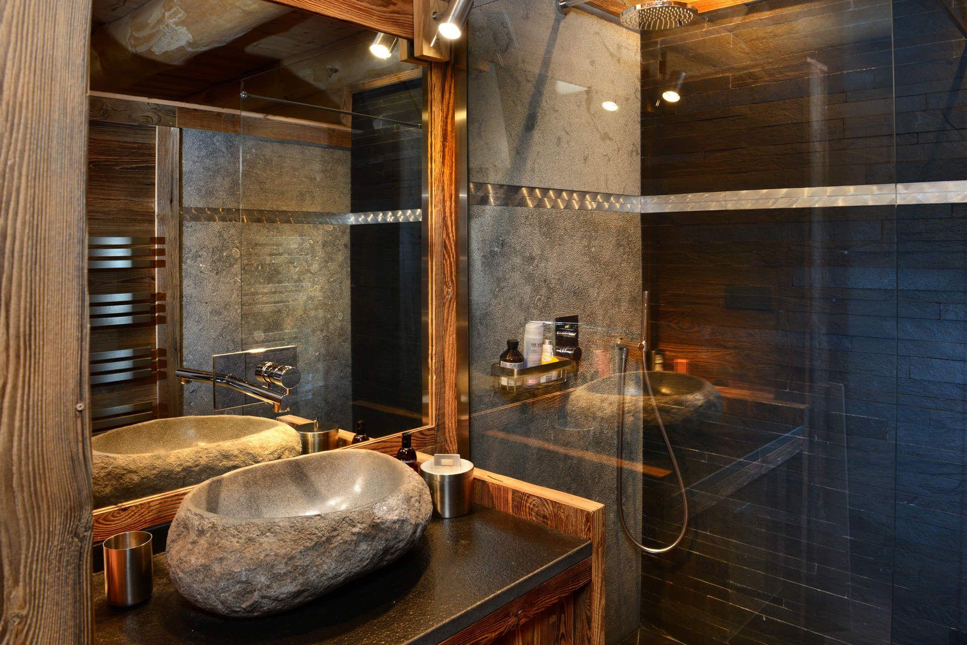 La salle de bain esprit chalet de montagne - masalledebain ...