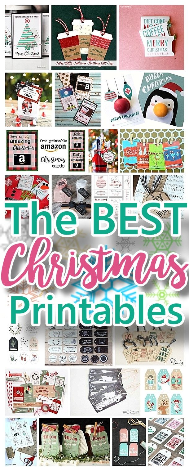 The best free christmas printables gift tags holiday greeting the best free christmas printables gift tags holiday greeting cards gift card holders and more fun downloadable paper craft winter freebies kristyandbryce Gallery