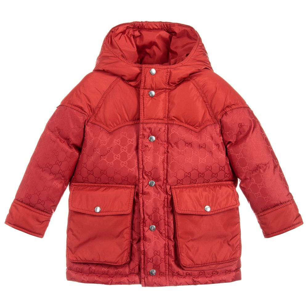 1798bfcba Boys Down Padded Coat for Boy by Gucci. Discover the latest designer ...