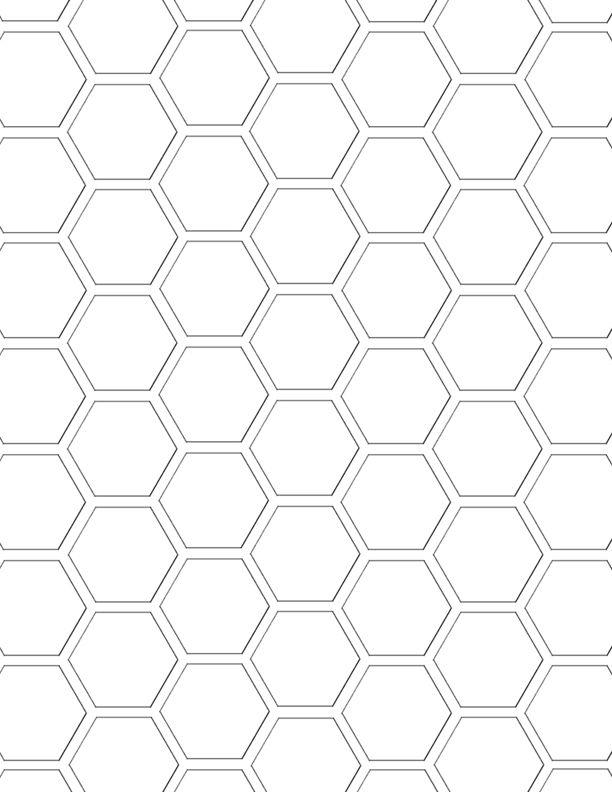 Mel Stampz Hexagon digital paper template  hex paper freebies - hexagonal graph paper template