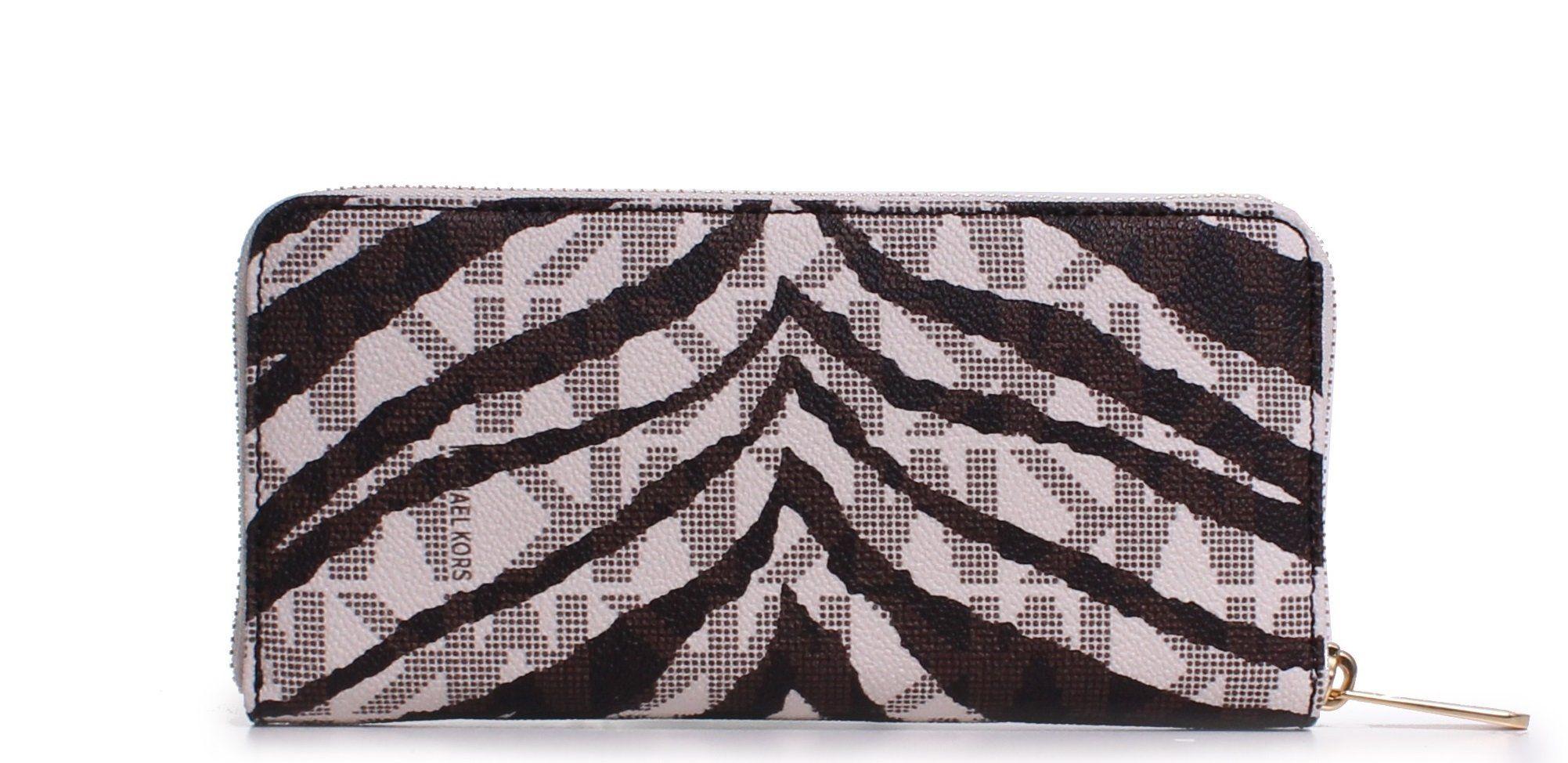 046fab142386a6 Michael Kors Jet Set Continental Wallet Vanilla MK Signature Tiger ** Click  image for more details. (This is an affiliate link) #MichaelKorsHandbags