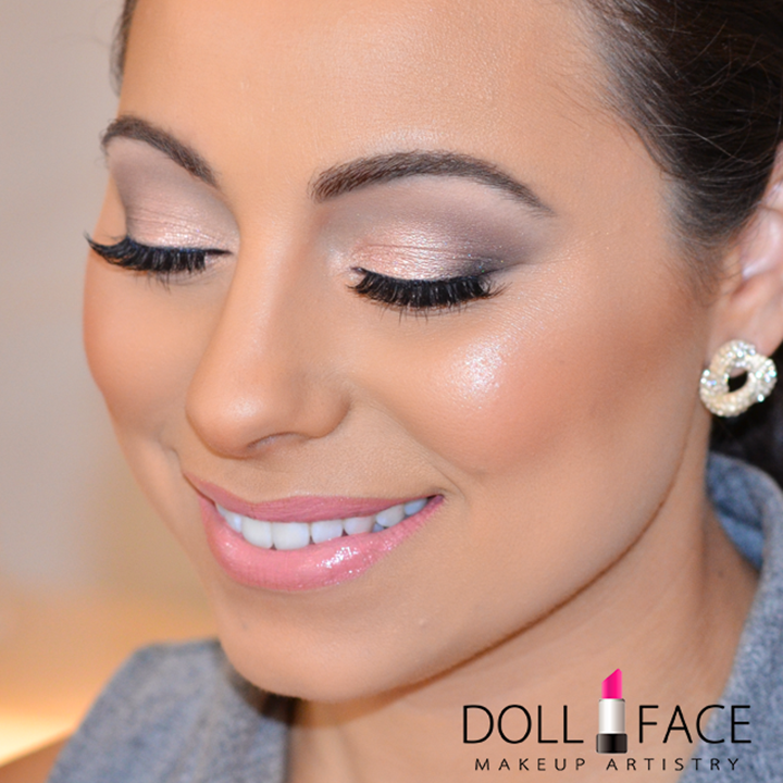 Glowing Glam Airbrush Bridal Makeup by DollFace Makeup