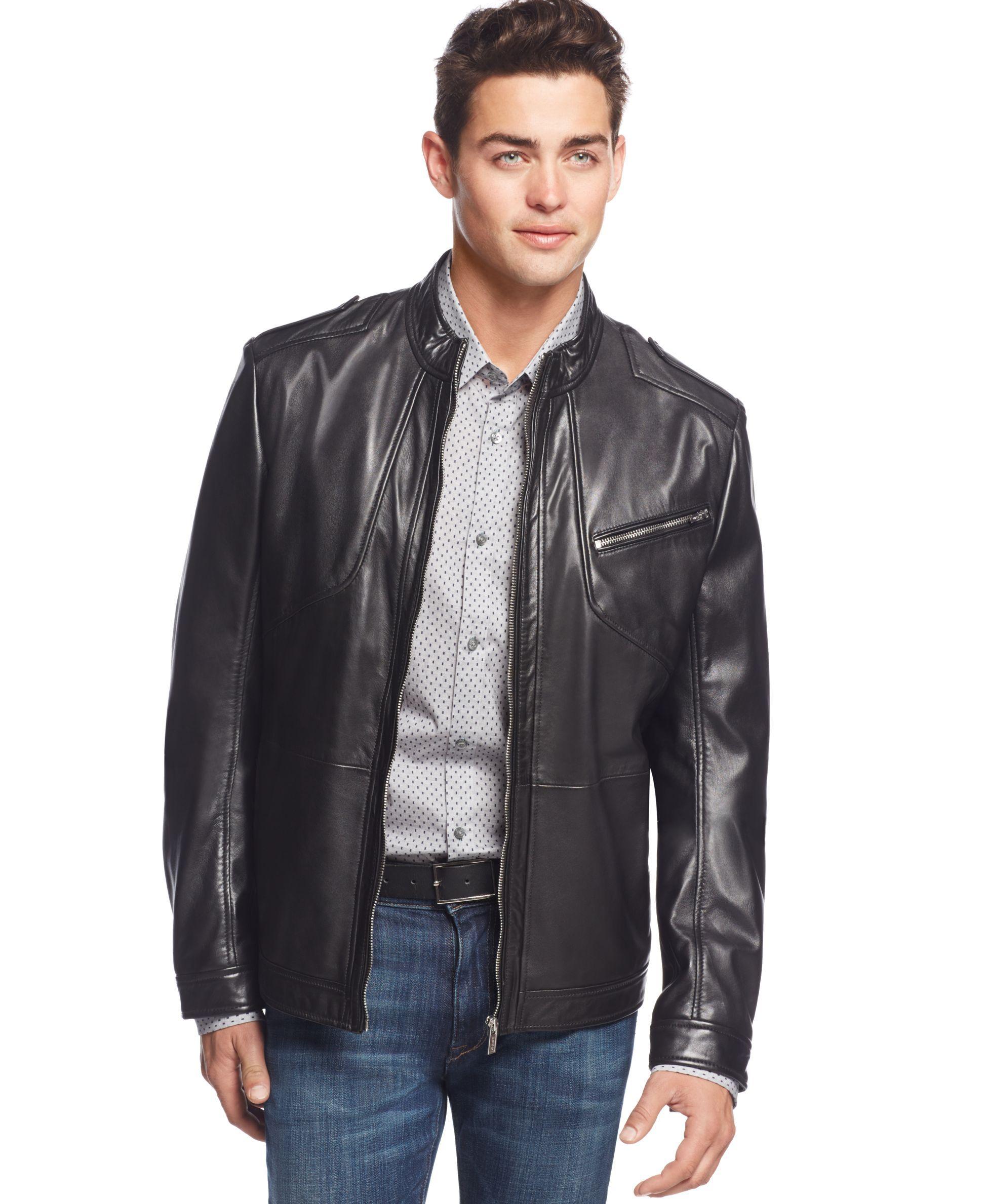 Boss Hugo Boss Lanex Leather Jacket Leather jeans men