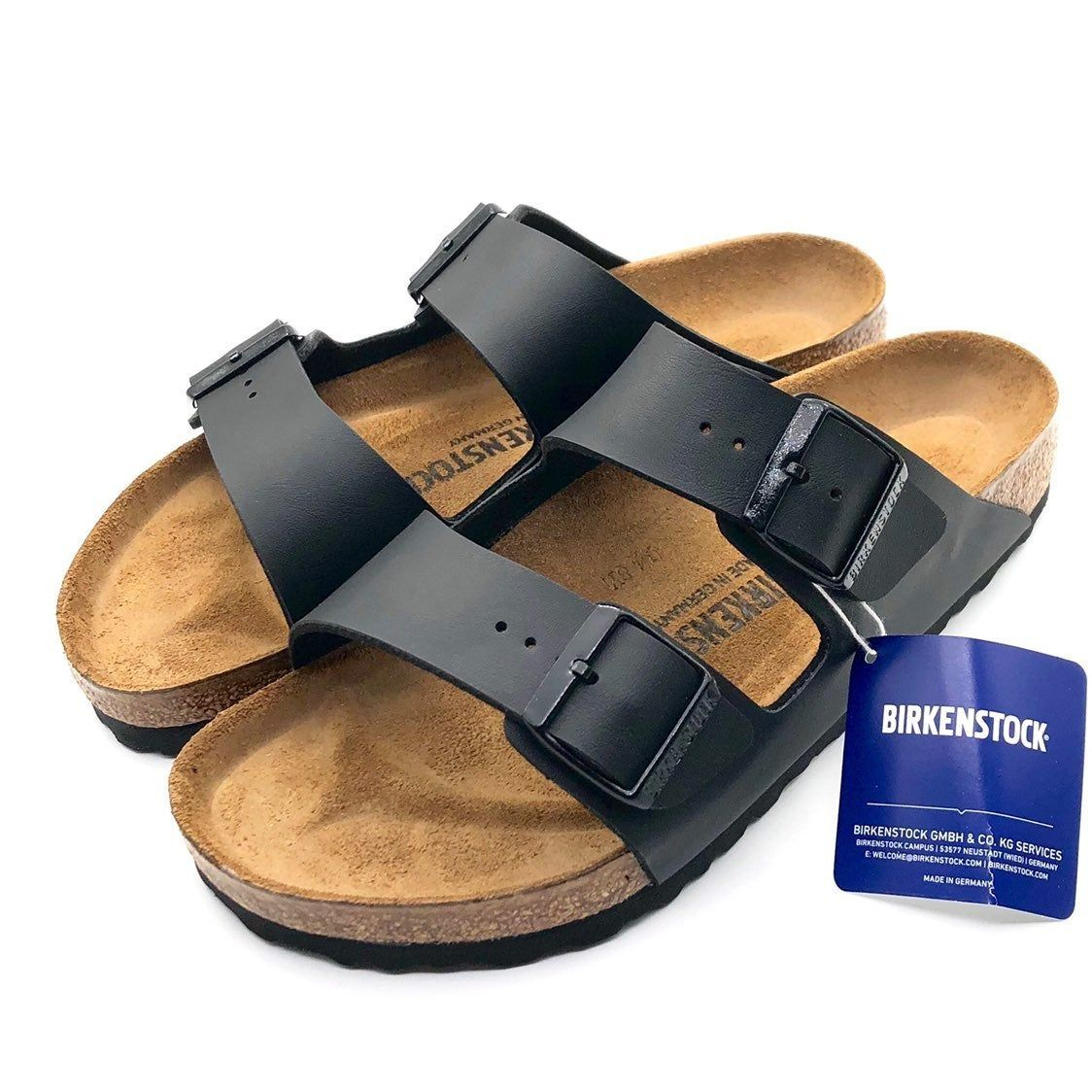 This Is A Brand New Birkenstock Arizona Regular Fit Size 41 Ladies 10 Mens 8 Color Black Insole Leathe Birkenstock Shoes Birkenstock Arizona